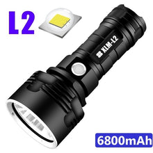 Load image into Gallery viewer, Super Bright LED Flashlight Rechargeable Outdoor High Power Hunting Flashlight Camping Fishing Searchlight