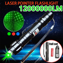 Load image into Gallery viewer, 5Miles Range 532nm Green Laser Pointer Light Pen Visible Beam High Power 8000M Lazer Torch Flashlight