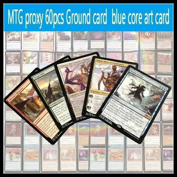 NEW 60pcs Board Game MTG  Ground card proxy mtg card blue core art card