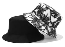 Load image into Gallery viewer, Men Women Bucket Hat Fashion Coconut Tree Print Double Side Hats Vintage Canvas Fisherman Hat Women Couple Sunhat Cap Hip Hop Punk Hat Outdoor Cap