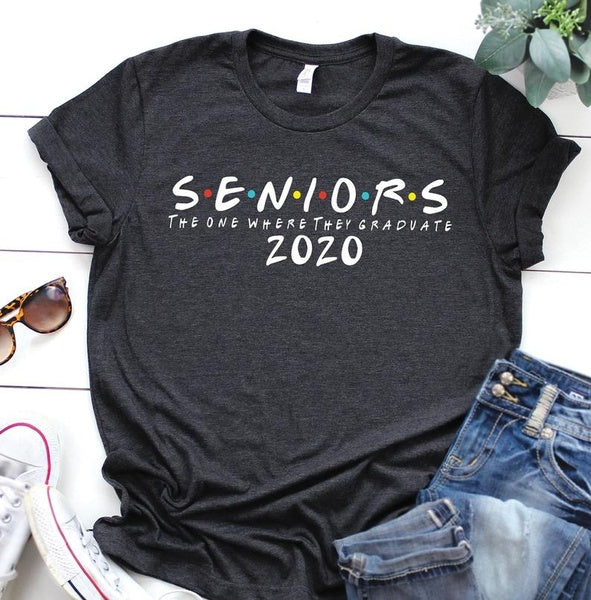Seniors 2020 The One Where They Graduate T-Shirt Class of 2020, Graduation Gift, Senior 2020, Friends Senior