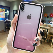 Load image into Gallery viewer, Luxury Transparent Gradient Phone Case for Iphone XS Max XR Case Acrylic Cover for IPhone 7 8 6 6S Plus Candy Color Edge