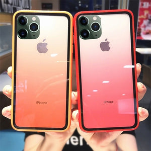 Luxury Transparent Gradient Phone Case for Iphone XS Max XR Case Acrylic Cover for IPhone 7 8 6 6S Plus Candy Color Edge