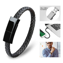 Load image into Gallery viewer, New 3 Size Plug-in Cable Bracelet Type-C USB Bracelet of Cable Cable Syncing Cable Data Charger for Android Phone Iphone with Box