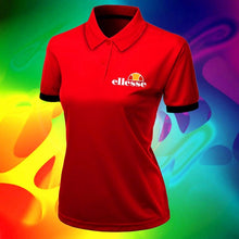 Load image into Gallery viewer, New Summer Fashion Women T Shirt Ellesse Cotton Lapel Collar Cool Shirt