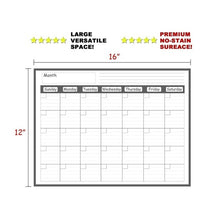 Load image into Gallery viewer, Newest Magnetic Refrigerator Dry Erase Calendar Monthly Planner Whiteboard Message Organizer for Kitchen Fridge 40*30 CM