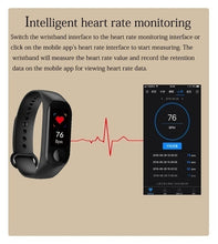 Load image into Gallery viewer, M3 Smart Bracelet Color Screen Blood Pressure Waterproof Fitness Tracker Watch Heart Rate Monitor Smart Band for Android IOS