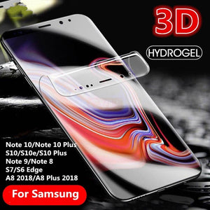 1Pcs Hydrogel TPU Full Screen Protector Film For Samsung Note 10 S10 S9 S8 Plus Note 9 8 S7 S6 Edge