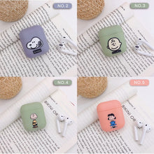 Load image into Gallery viewer, Stylish Snoopy Pattern Soft TPU Case Protector for Airpods Cartoon Earphone Earbuds Airpods Case Couple's Charging Airpods Case Best Friends Airpods Cover