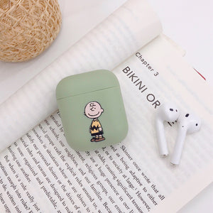 Stylish Snoopy Pattern Soft TPU Case Protector for Airpods Cartoon Earphone Earbuds Airpods Case Couple's Charging Airpods Case Best Friends Airpods Cover