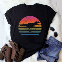 Load image into Gallery viewer, Women Fashion Dinosaur Printed Casual Tee Shirt Short Sleeves T-shirt Tops Clothes S-XXXL