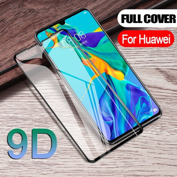 9D Toughened Full Curved Protective Glass For Huawei P30 Pro Mate 20 Pro Screen Protector For Huawei P20 Pro P20 Lite Mate 20 Lite P20 P30 Mate 20 etc Tempered Film Verre Trempe