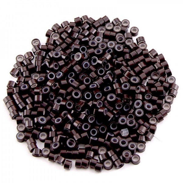 1000pcs 5*3mm Aluminum Silicone Bead Tubes Hair Extension Micro Rings Loops