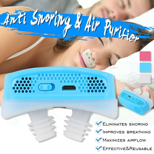 Anti Snoring Devices Air Purifier Sleep Aid Snore Stopper Nose Machine