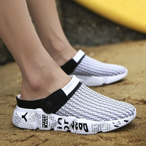 Men's Summer Outdoor Sports Sandals Breathable Mesh Slippers