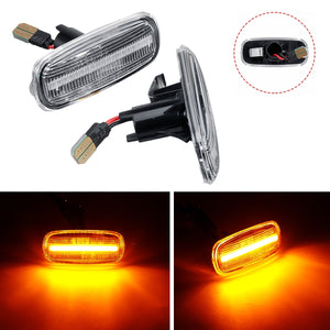 Pair Side Marker Turn Signal Light LED Lamp For Audi A3 A4 S4 B6 B7 A6 C5 TT A8