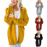 Autumn and Winter Women's Cardigan Solid Color Sweater