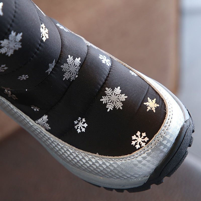 Kids Shoes Girls Boys Fashion Winter Shoes Outdoor Waterproof Fur Snow Boots Size 27-32