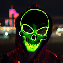 Load image into Gallery viewer, Halloween Skeleton Mask 4 Modes LED Light Masks Glow Scary Mask Light Up Cosplay Mask