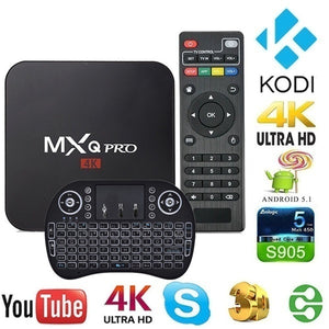 Smart TV Bottom Box MXQ PRO S905W Android 7.1 4K 1G + 8G TV Box Intelligent Amlogic 4 Core Media Player with Keyboard