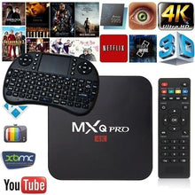 Load image into Gallery viewer, Smart TV Bottom Box MXQ PRO S905W Android 7.1 4K 1G + 8G TV Box Intelligent Amlogic 4 Core Media Player with Keyboard