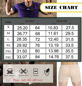 Men's Boxer Briefs Body Shaper with Removable Sponge Pad Bum Lifter Tummy Control Breathable Slimming Underwear Panties Bike Shorts