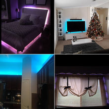 Load image into Gallery viewer, Tape Lights Dimmable LED Lights Kit DC 12V RGB LED TV Backlight Strip with 44 Key Remote Controller and Power Adapter for Home, Kitchen,Decoration