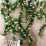 2.35M Artificial Rose Flower Ivy Leaf Wedding Garland Plants Fake Foliage Vine