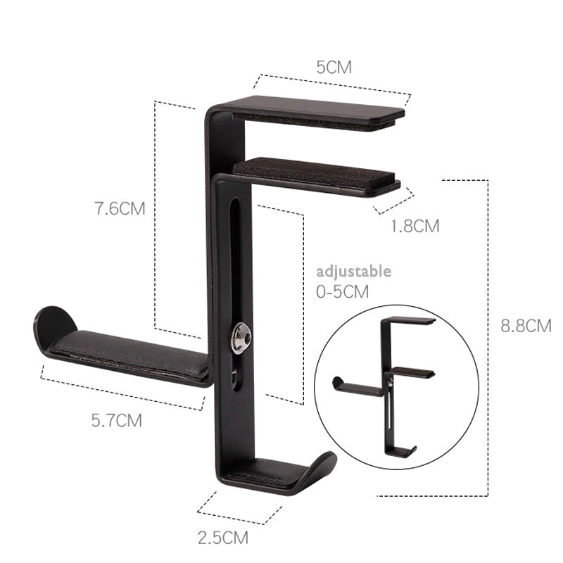 Foldable Aluminum  Headphone Stand Hanger Table Holder Headset Bracket Space Save Mount