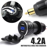 4.2A Motorcycle Dual USB Charger For BMW F800 F650 F700 R1200 GS EU Plug