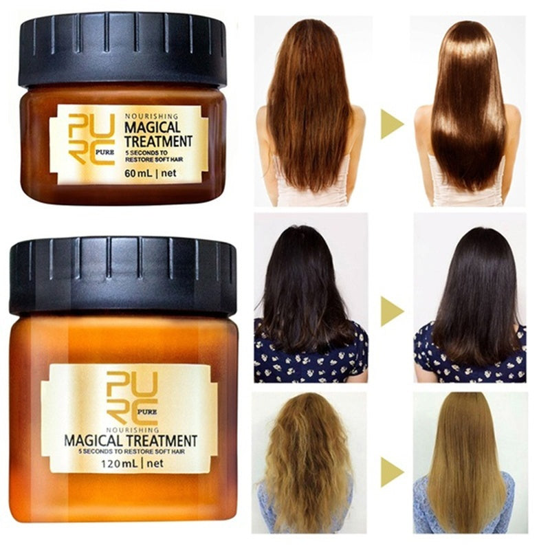 60ML/120ML Hair Mask Treatment Mask 5 Seconds Repairs Damage Restore Soft Hair 60ml for All Hair Types Keratin Hair & Scalp Treatment
