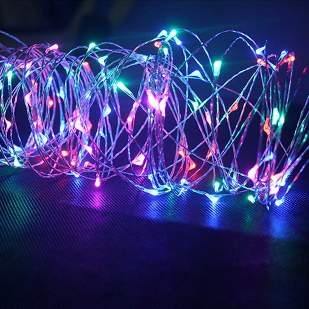 10/20/30/50/100 LED Romantic Fairy String Lights Waterproof Copper Wire String Light For Christmas Garden Party Outdoor Decor(Battery Not Included)