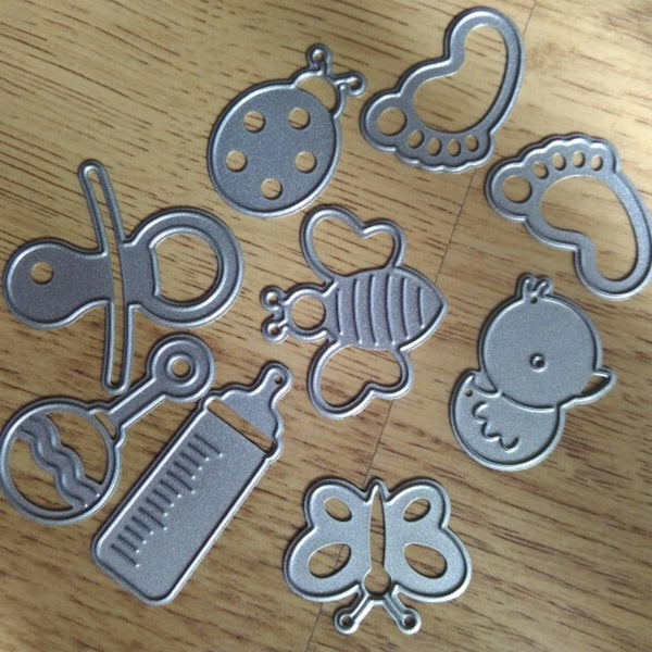 9Pcs/set Baby and Toys Metal Cutting Dies Scrapbooking Stencils for DIY Photo Album Paper Card Making Crafts New 2019