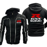 GSX Logo Men Motorcycle Jacket Waterproof Four Seasons Suzuki GSX Race Breathable Protection Leisure Rider Rossi Jacket