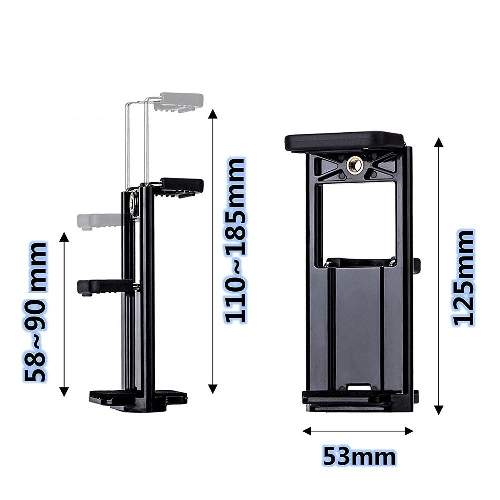 Selfie Stick Travel Cell Phone Tripod Stand for Mobile Phones iPhone iPAD Galaxy HUAWEI Tablets Ring Light Portable Tripod with Phone Holder