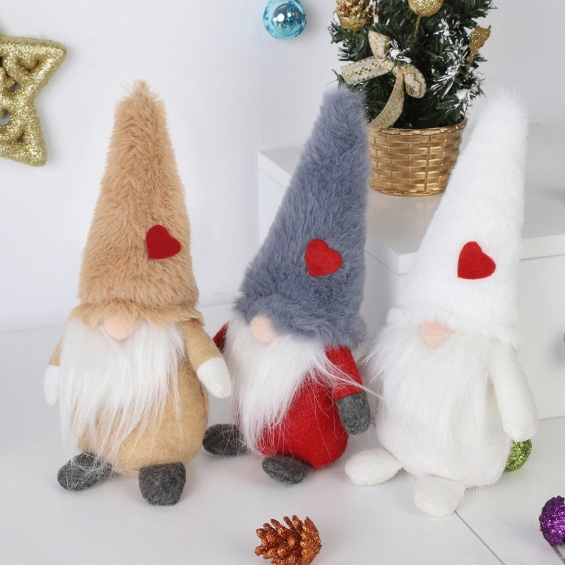 8Inch Plush Gnome Doll Ornaments Swedish Christmas Santa Nisse Nordic Elf Figurine Holiday Gift