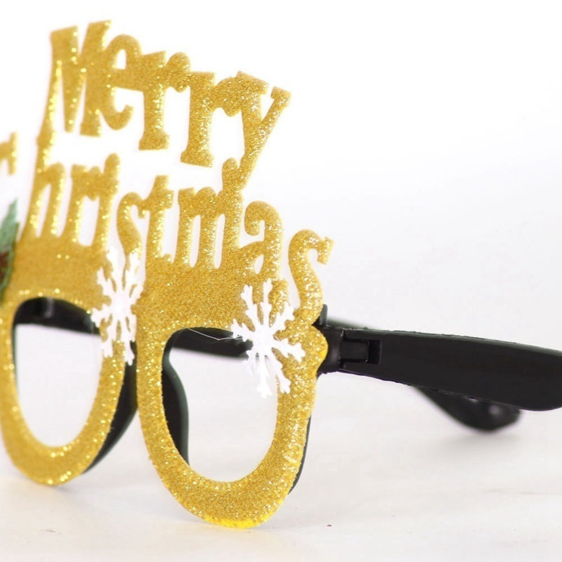 2020 Christmas Decorations Adult Children Toys Santa Claus Snowman Antler Glasses Christmas Decorative Glasses