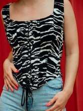 Load image into Gallery viewer, Faux Zebra Corset