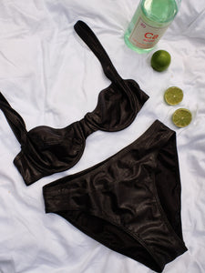 All out 90s Black Shimmer Bikini