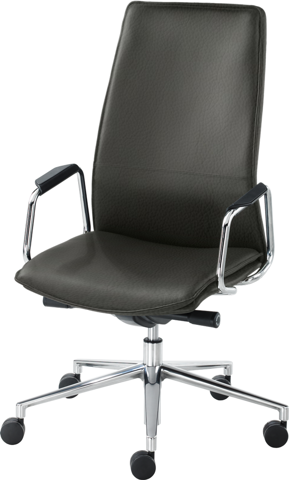 HBB ergonomic executive home office chair - leather upholstery