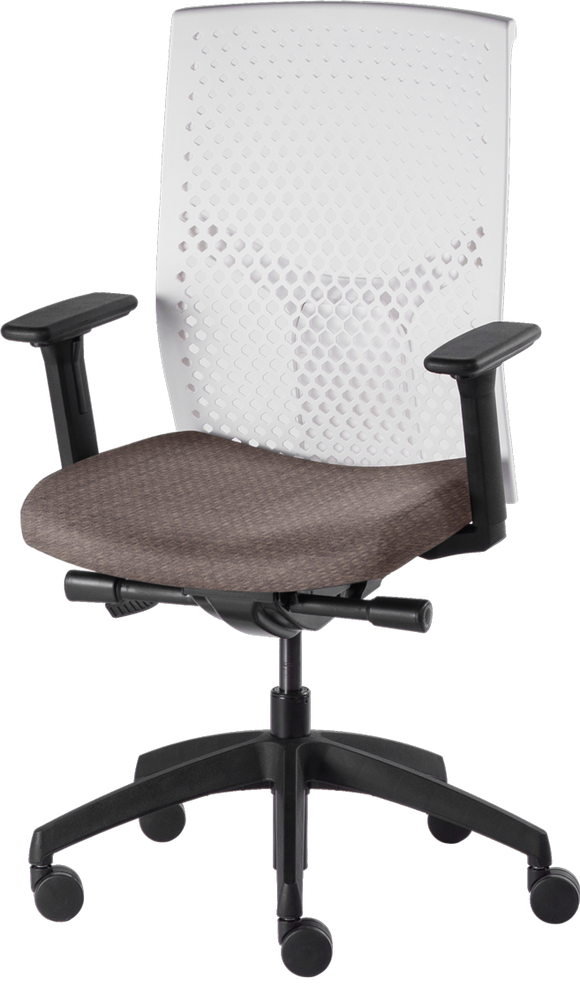 J2HA ergonomic home office chair upholstered Lavoro Grey