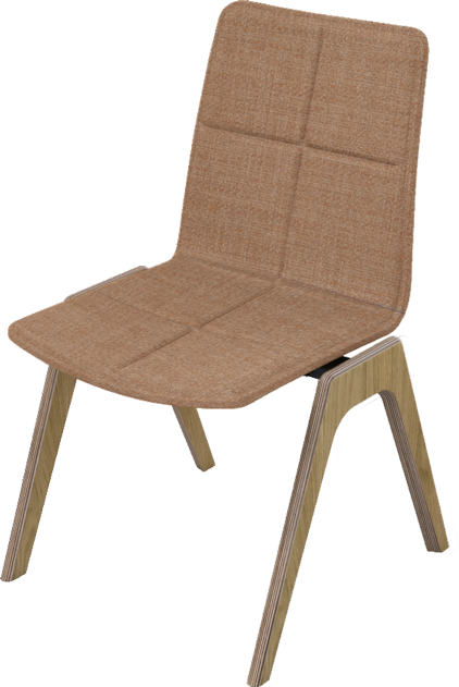 Ligni NC3 wooden meeting chair - Built to order