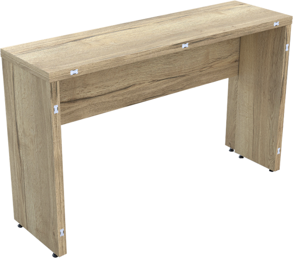 Folding Console Table in Natural Halifax Oak 3DMFC