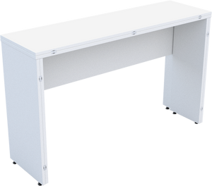 Folding Console Table in White MFC