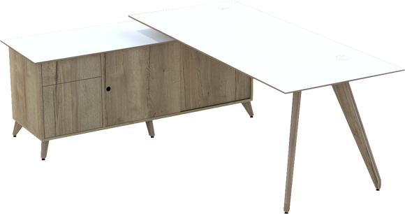 Ligni timber leg Workstation - Built to order