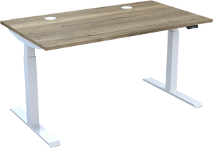 HiRise² electric sit stand desk in Natural Halifax Oak 3DMFC - Available in 10 days
