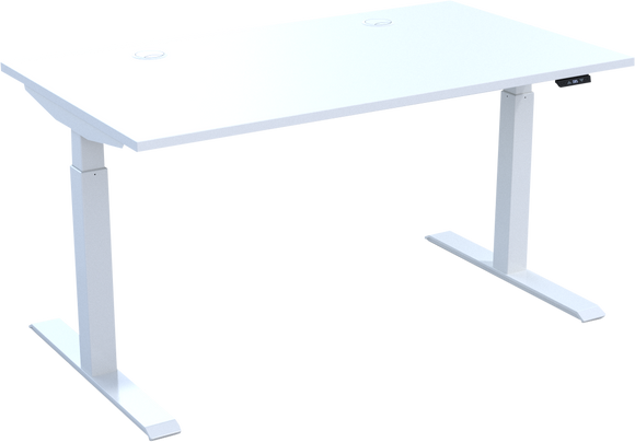 HiRise² electric sit stand desk in White MFC - Available in 10 days