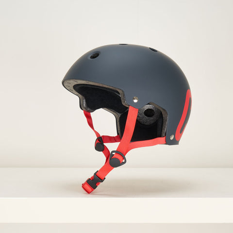CORE Street Helmet – Matt Black with Red Decal