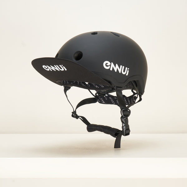 Ennui Elite Helmet - Black, with Peak