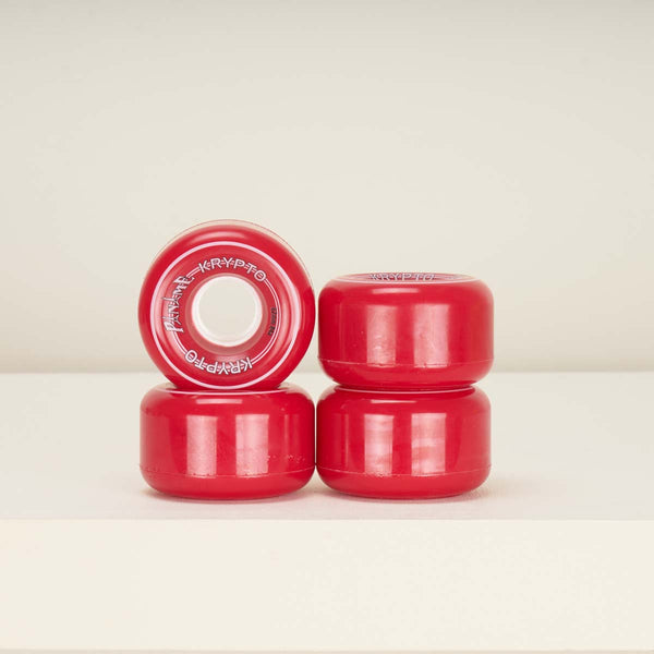 Kryptonics Paname 62mm 84a Roller Skate Wheels -  Red